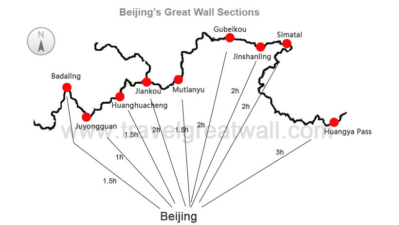 Beijing Great Wall Map